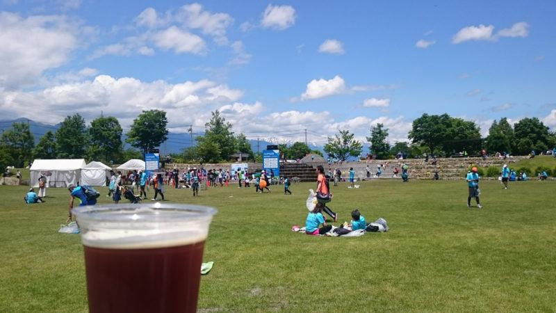 安曇野ハーフマラソン ビール