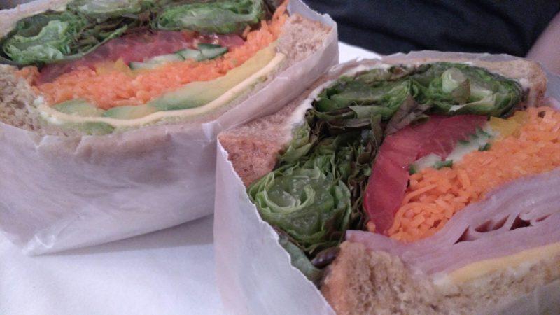 ハム野菜サンド