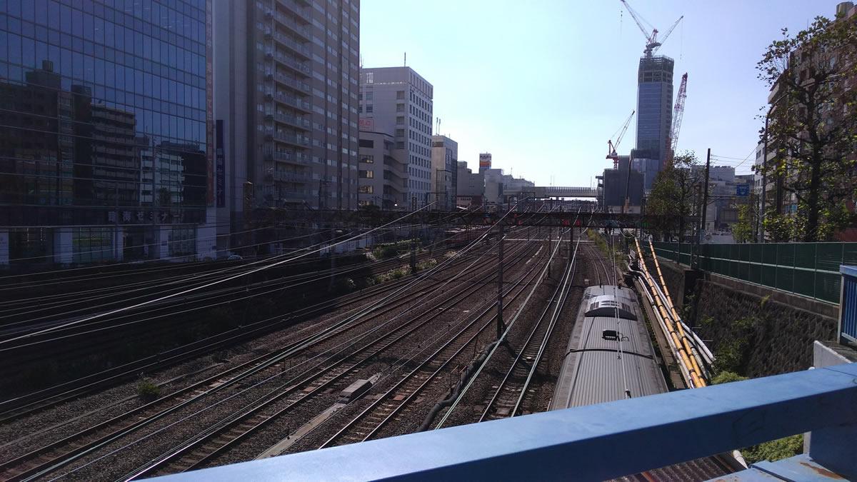 青木橋より横浜駅方面