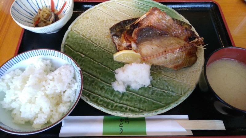 焼魚三種類の定食 750円