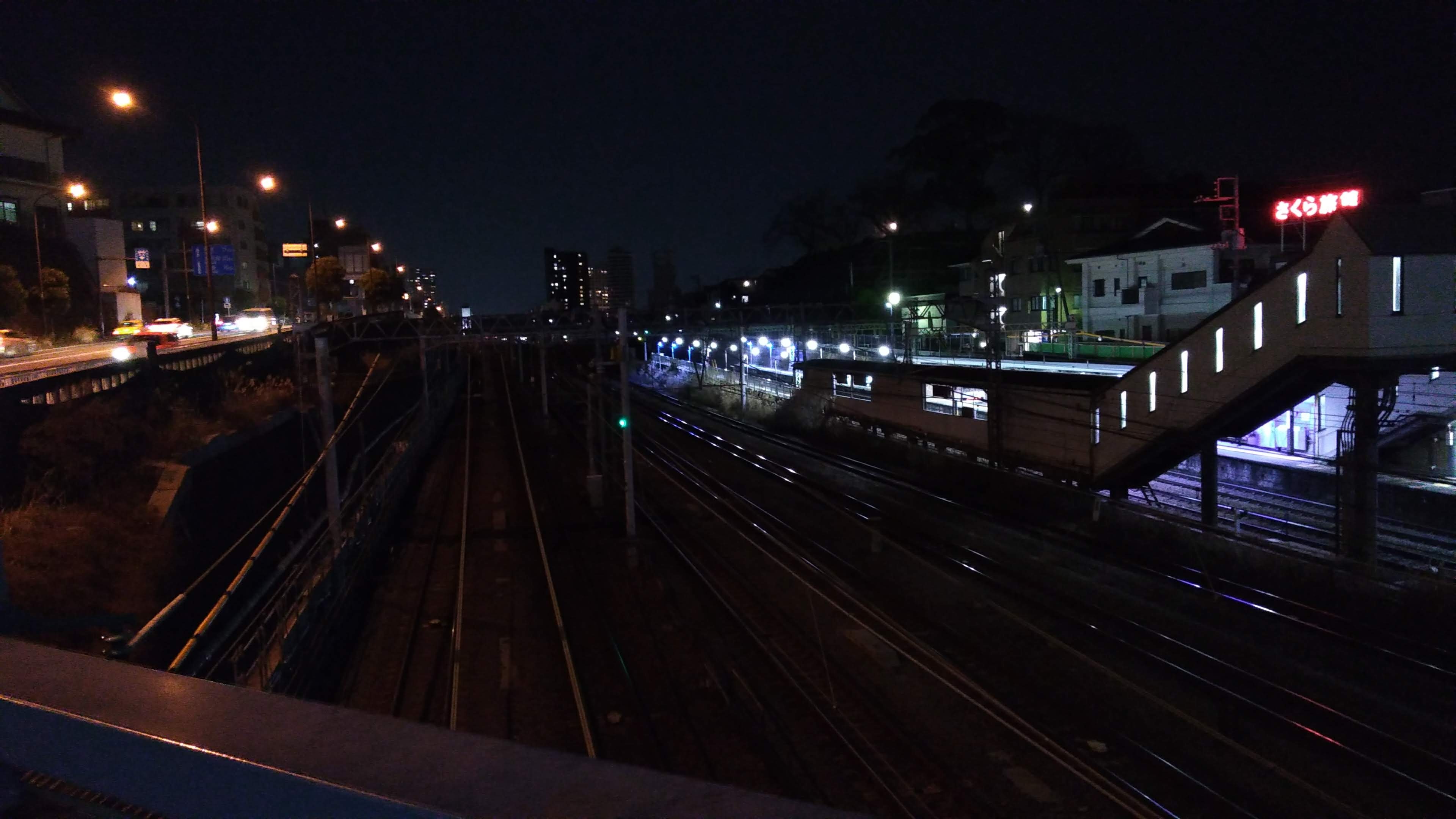 夜の青木橋