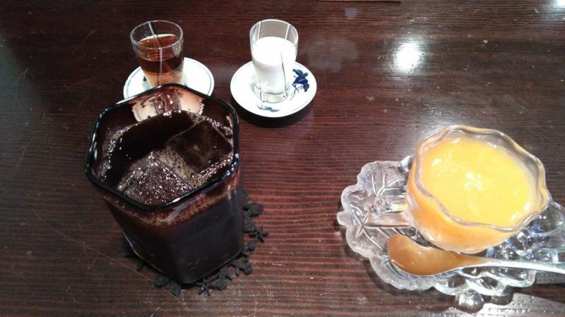 甘夏のゼリーと炭焼きアイスコーヒー