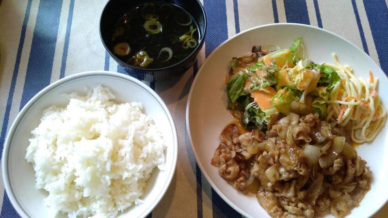 生姜焼き定食 750円