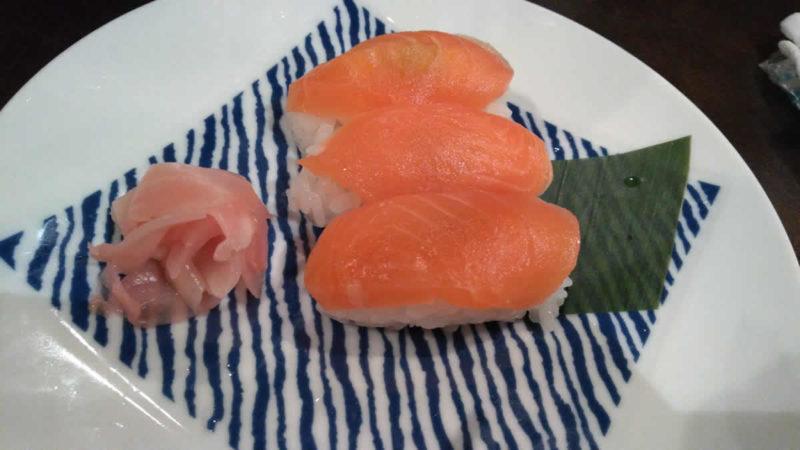 信州サーモンのにぎり寿司